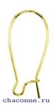 Основа для серьги металлическая кидни 25 мм, упаковка 144 шт., цвет золото
